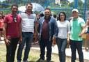 Prefeitura com apoio da Câmara Municipal Inaugura Quadra Poliesportiva na Comunidade Vitória
